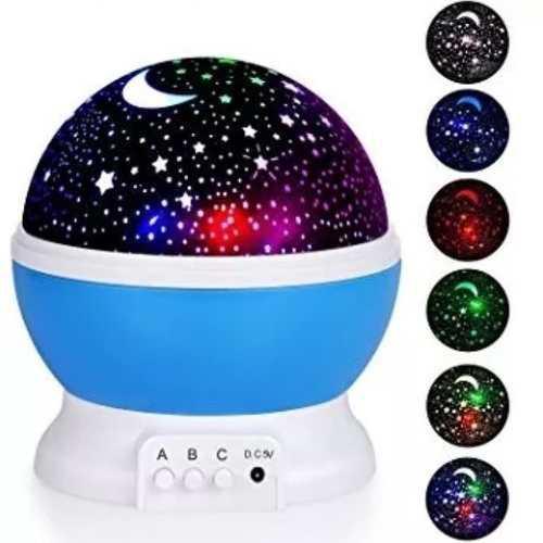 Lámpara Proyector Mesa Estrellas Giratoria Niños Bebés