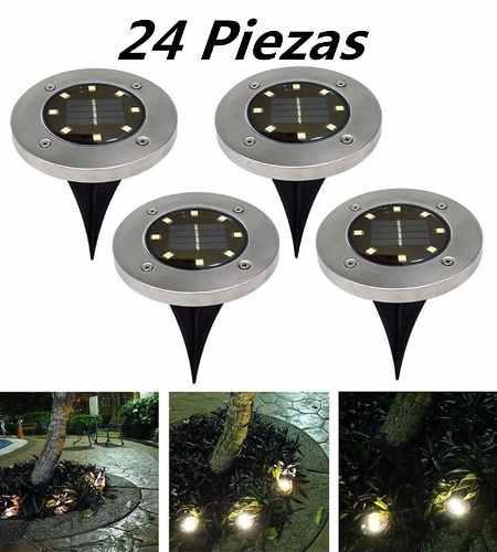 Lámpara Solar De 8 Led Para Decoración, 24 Piezas