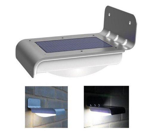 Lámpara Solar Exterior Sensor De Luz Para Patio O Jardín +