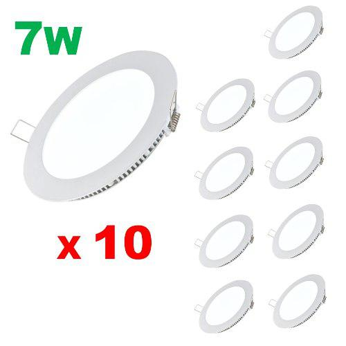 Mayoreo Spots Led 7w Slim 10pc Paneles Luces Casas Oficina