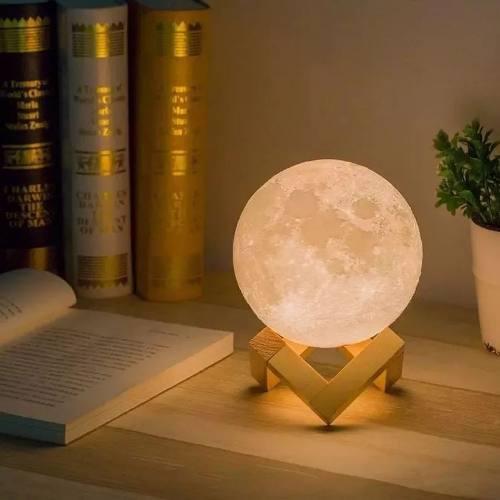 Moonlight Luna 3d Lampara De Buro Y Escritorio 7 Colores 8cm