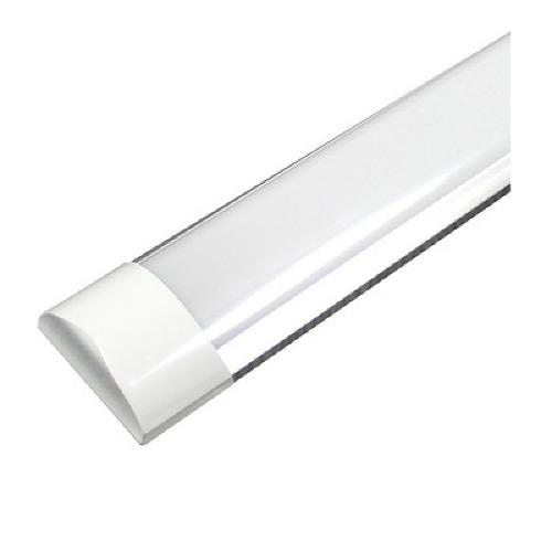 Paq 10 Tubos Led Doble Ancho Transparente 36w 120 Aluminio