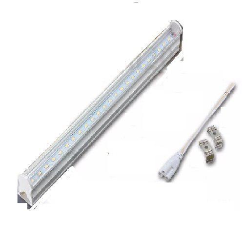 Paq 4 Tubos Doble Led 2.40 Mts T8 Canaleta Plástico 48w 240
