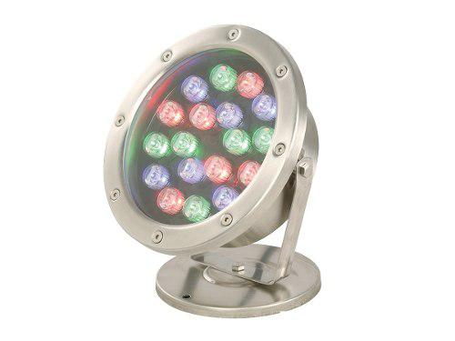 Reflector Exterior Dirigible Rgb Led 18w Sumergible P