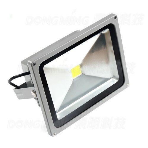 Reflector Led 50w Luz Blanca 6500k Gris Remate 110 - 220v