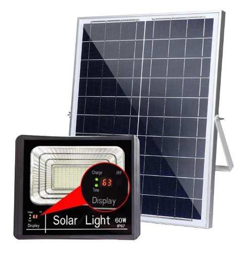 Reflector Solar Led 60w Automática Recargable Exterior