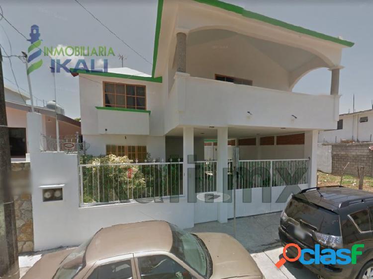 Renta Casa Amueblada 3 rec. Col. Del Valle Tuxpan Veracruz,
