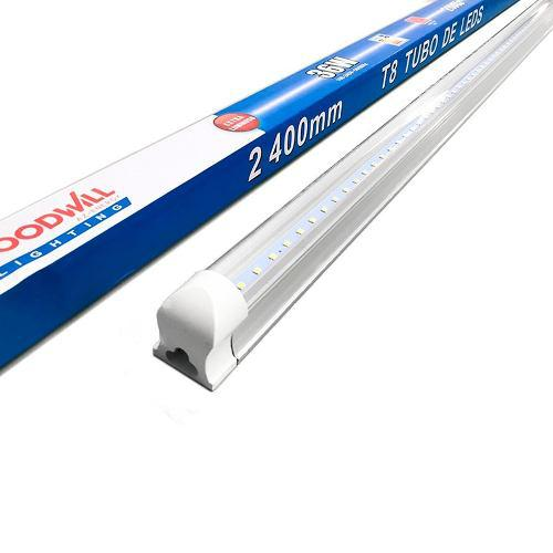 Tubo Lampara Doble Led T8 48w Techo 2.40 Mts Plastico