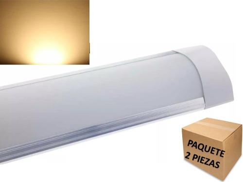 Tubo Lampara Led 40w 1.22 Mts Ultradelgada Luz Calida 2 Pzas
