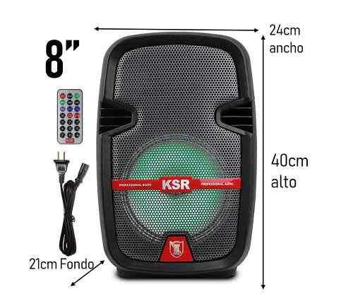 Bafle Bocina De 8 Ksr Bluetooth Recargable Msa- Mayoreo