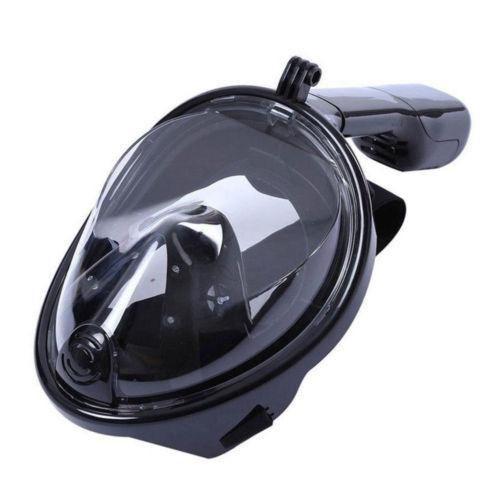 Black - S/m - Rostro Completo Snorkel Máscara Buceo