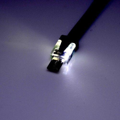 Cable Usb Plano De 3 Pies De Luz Led Up Up 1 Metro De Carga