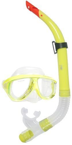 Combo Mascara Y Snorkel Amarillo - Escualo Modelo Coral