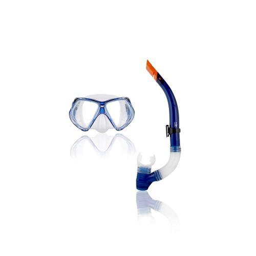 Combo Mascara Y Snorkel Escualo Modelo Expert Azul