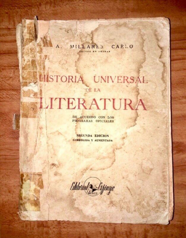 Historia Universal de Literatura (Segunda Edición, ) -