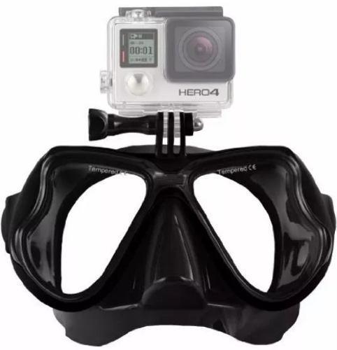 Mascara De Buceo Visor Snorkel Para Cam Gopro