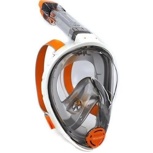 Mascara Y Snorkel Modelo Aria Ocean Reef Blanca Talla L/ Xl