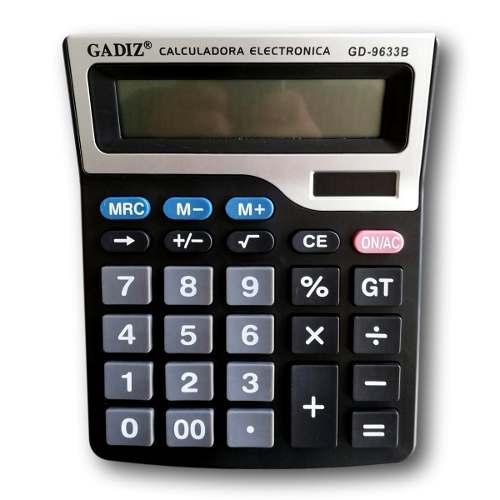 Calculadora De Escritorio 12 Digitos 18 X 15cm Gadiz Gdb