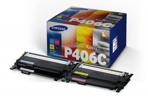 Pack De 4 Cartuchos De Tóner Samsung Clt-p406c Nuevo