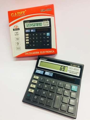 Paquete De 10 Calculadora Electrónica Modelo Gd-500