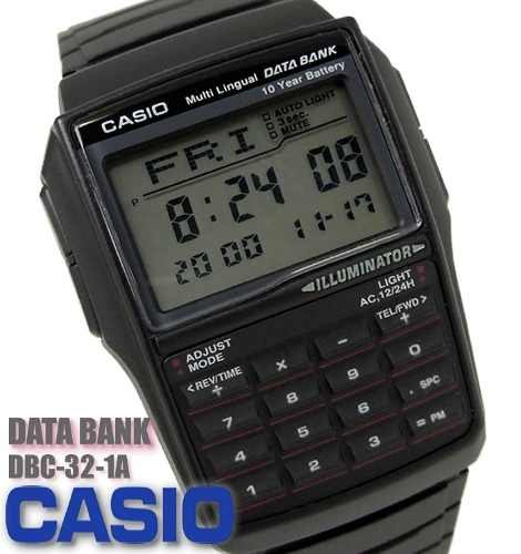 Reloj Casio Dbc32 Calculadora Banco De Datos,original