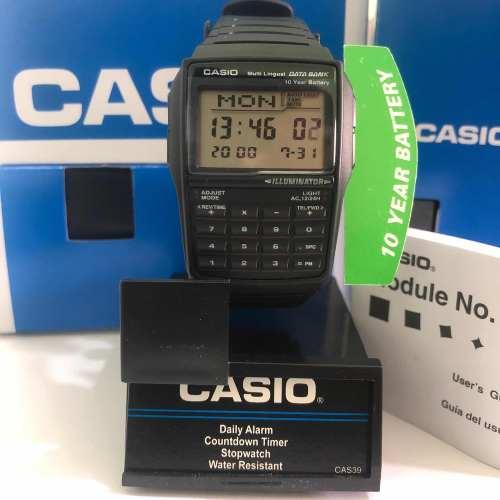 Reloj Casio Dbc32 Negro Calculadora Original Nuevo En Caja