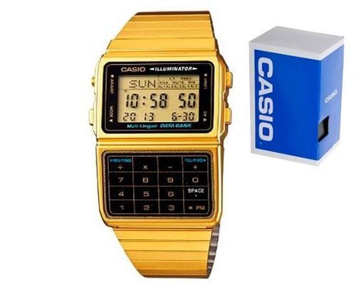 Reloj Casio Para Caballero Dbc611 Dorado Calculadora