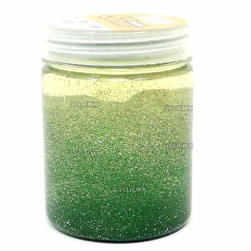 Slime Diamantado Bicolor Borreguito Verde Transparente