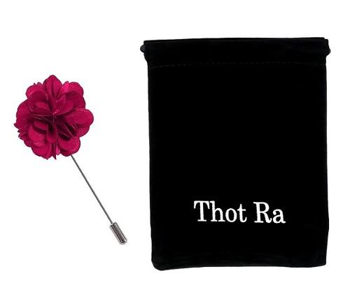 Thot Ra Fistol Flor Color Rosa Fucsia Pin Para Traje F-633