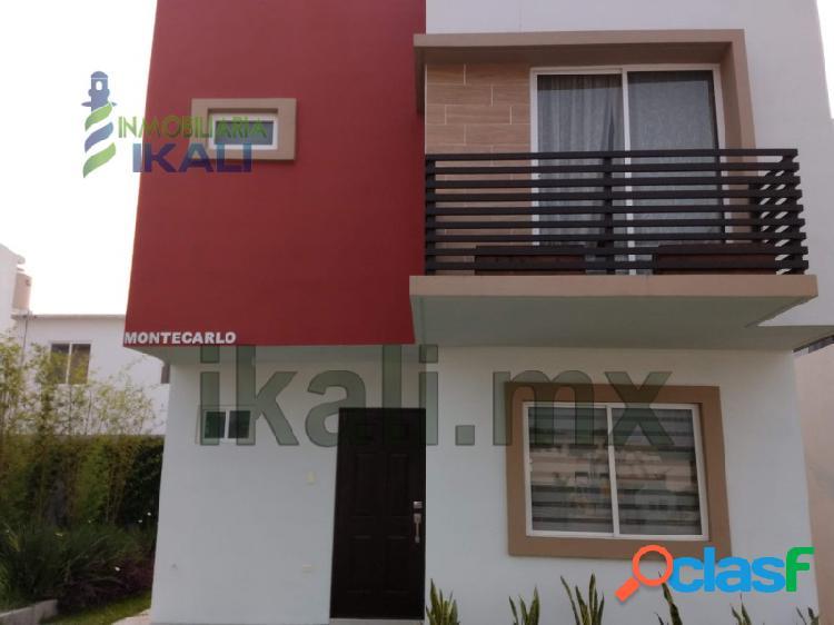 Venta Casa Nueva 3 rec. Col. Valle Alto Tuxpan Veracruz,