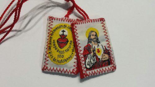 10 Escapularios Sagrado Corazón De Jesús Con Detente