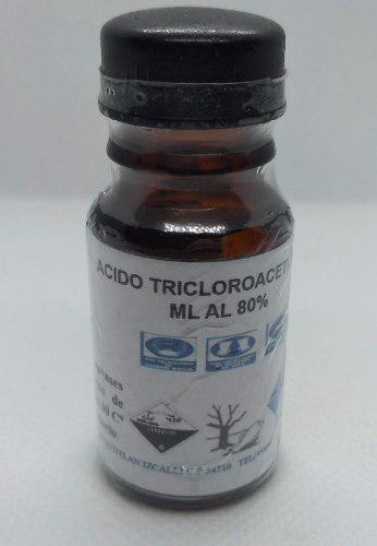 Acido Tricloroacetico Solucion 20ml Al 80% Envio Gratis