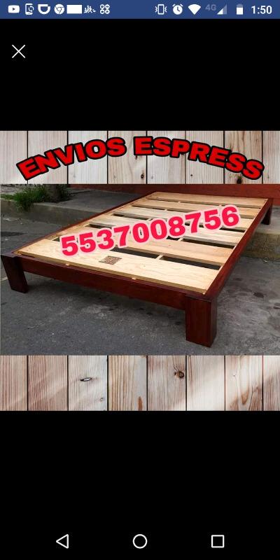 Bases de madera/colchones/envio express/paga al