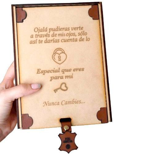 Caja De Madera Para Regalo Personalizada, Con Envío