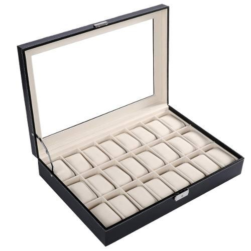 Caja Organizadora D/joyas/relojes Pulsera Homdox 24 Espacios