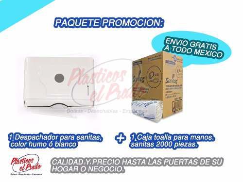 Despachador Toallitas + Caja De Sanitas + Envio Gratis