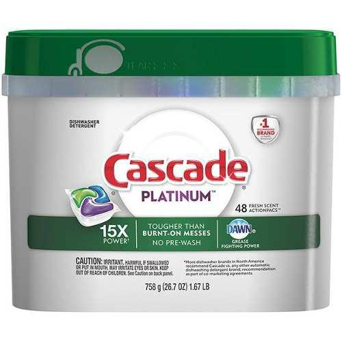 Detergente Para Lavavajillas Cascade Platinium 48 Capsulas