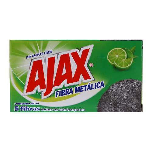 Fibras Metálicas Ajax Con Aroma A Limón 1 Paquete Con 5