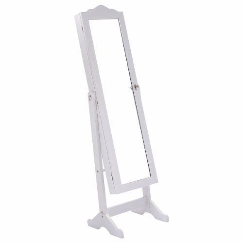 Joyero Organizador Armario Espejo Alhajero Blanco