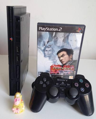 Play Station 2 Slim Consola Ps2 + Juego + Envío Gratis!!