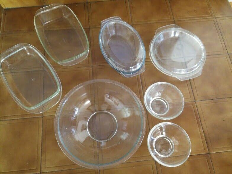 Set de 7 contenedores de vidrio resistentes a horno