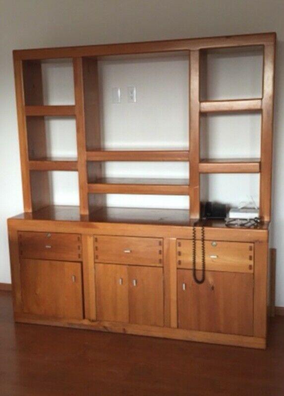 Mueble para TV- librero de Cedro blanco,