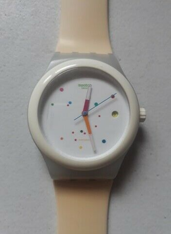 Reloj marca swatch original sistem 51 white sut 400
