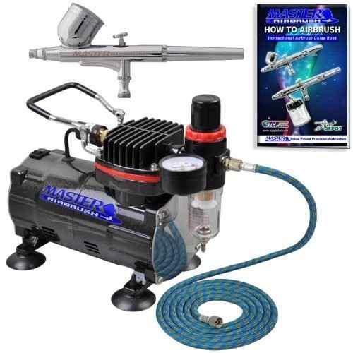 Aerografo Doble Accion Kit Completo Compresor 1.5hp