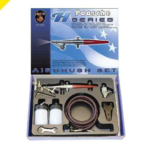 Aerografo Paasche H-set, En Set Completo Accion Sencilla