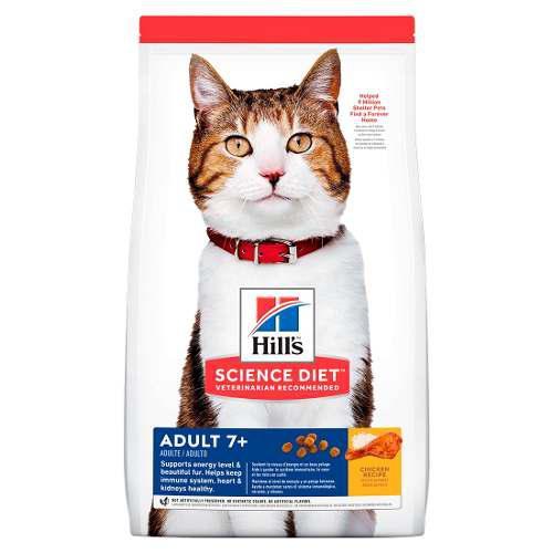 Alimento Croqueta Gato Adulto Mayor Grasas Bajas 7 Kg Hill's