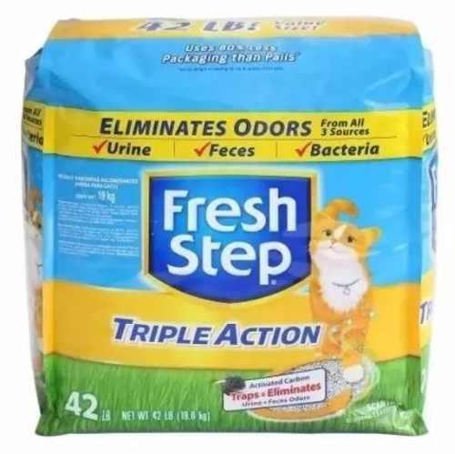 Arena Para Gatos Fresh Step Triple Accion 19 Kg