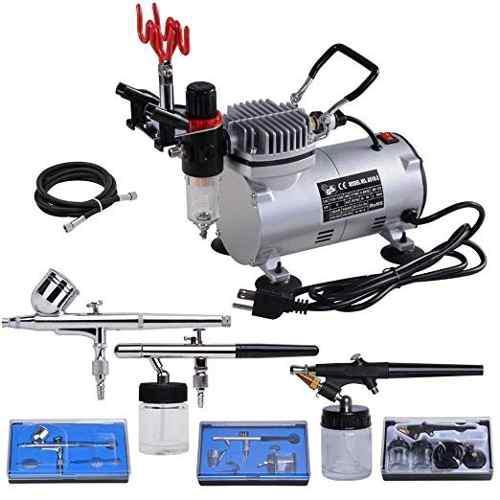 Aw 3 Multiuso Profesional Kit Del Aerógrafo Del Compresor