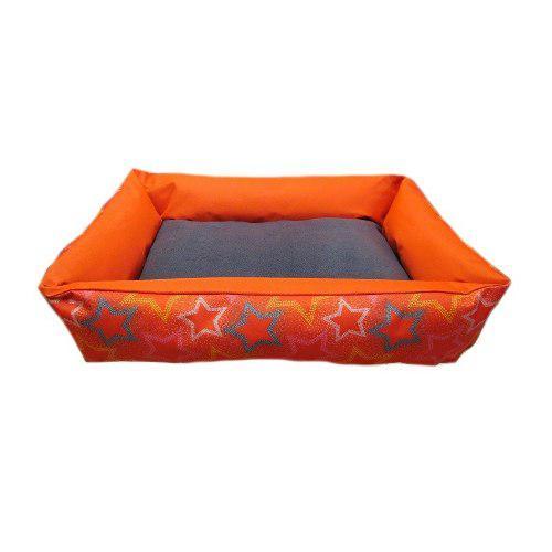 Cama Perro Gato Lucky Naranja Estrellas Tx10467 Fancy Pets