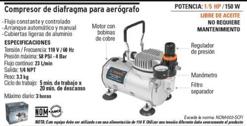 Compresor De Diafragma Para Aerógrafo 17247